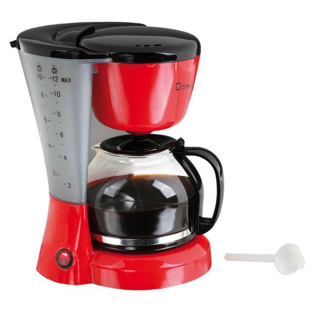Domoclip Cafetière électrique Rouge/Noir capacité 12 tasses 800W - Dom163RN