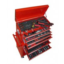 Destockoutils - Servante d'atelier 7 tiroirs avec environs 250 outils