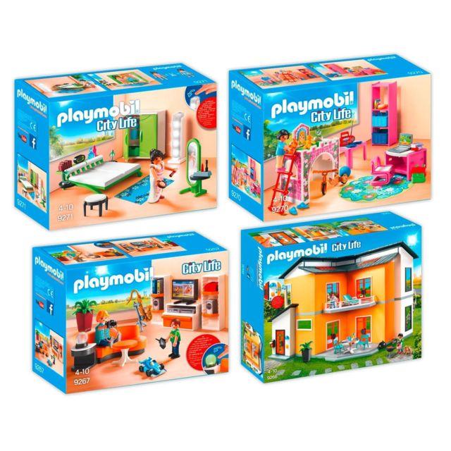 Playmobil 9266 La Maison Moderne 72 90 Jouets Et Jeux Pas Cher