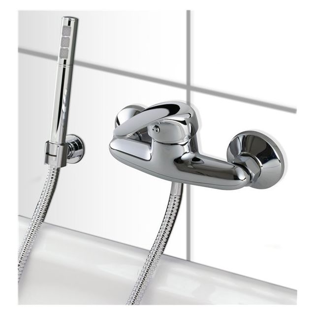 G n rique mitigeur de douche mural chrome robinet salle - Mitigeur salle de bain brico depot ...