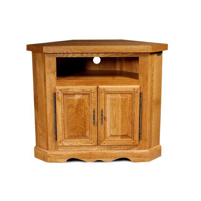 hellin meuble tv d 39 angle la bresse bois fonc pas cher achat vente meubles tv hi fi. Black Bedroom Furniture Sets. Home Design Ideas