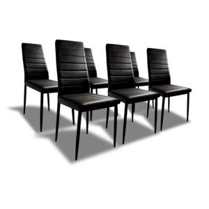 Bestmobilier sandy lot de 6 chaises de salle manger - Lot de 6 chaises de salle a manger pas cher ...