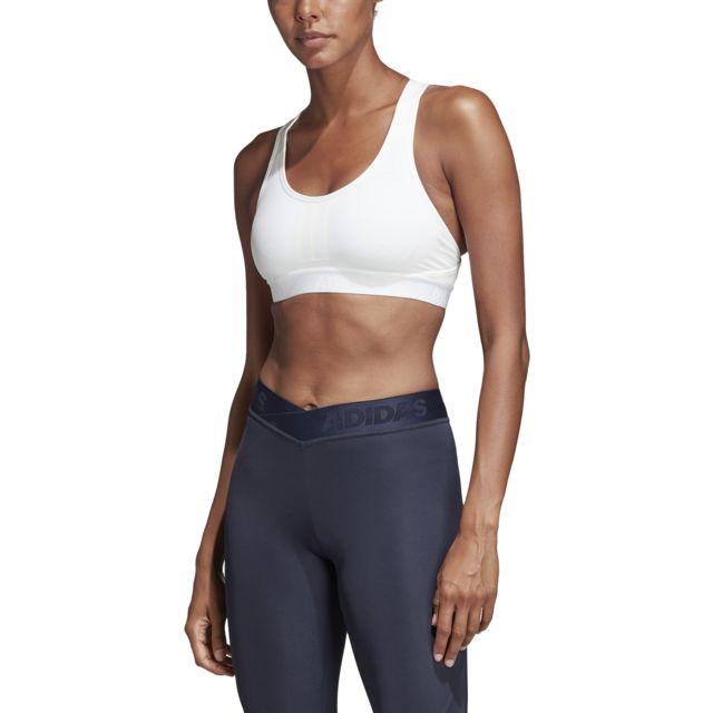 Adidas - Brassière femme adidas Don t Rest Alphaskin Tech Climachill.  Couleur   Blanc 0cd9f15b9ff
