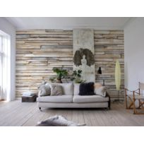 Komar - Whitewashed Wood Photo murale - 368 x 254 cm