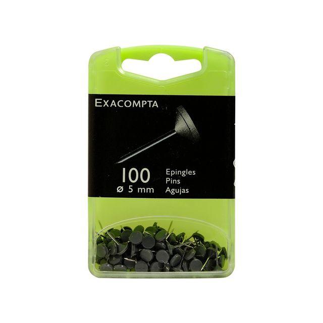 Bo/îte de 100 /épingles sph/ériques 4mm Cristal translucide Exacompta