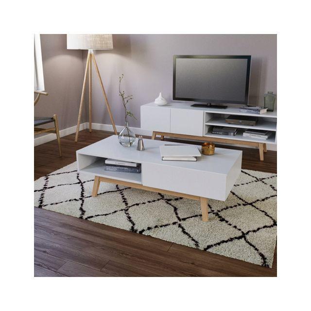 No Name Table basse Home 1 tiroir / Blanc