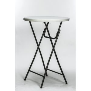 Cross - Table bar haute mange debout pliante. H : 110 cm. Ø : 80 cm ...