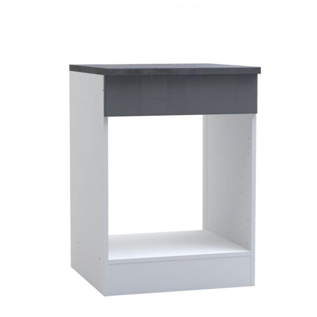 demeyere meuble bas pour four cuisine epice gris pas cher achat vente meubles de cuisine. Black Bedroom Furniture Sets. Home Design Ideas