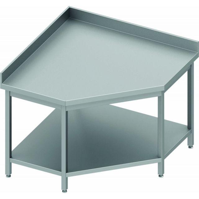 Materiel Chr Pro Table d'Angle Inox - Avec Dosseret - Gamme 700 - Stalgast - inox 600x700 700