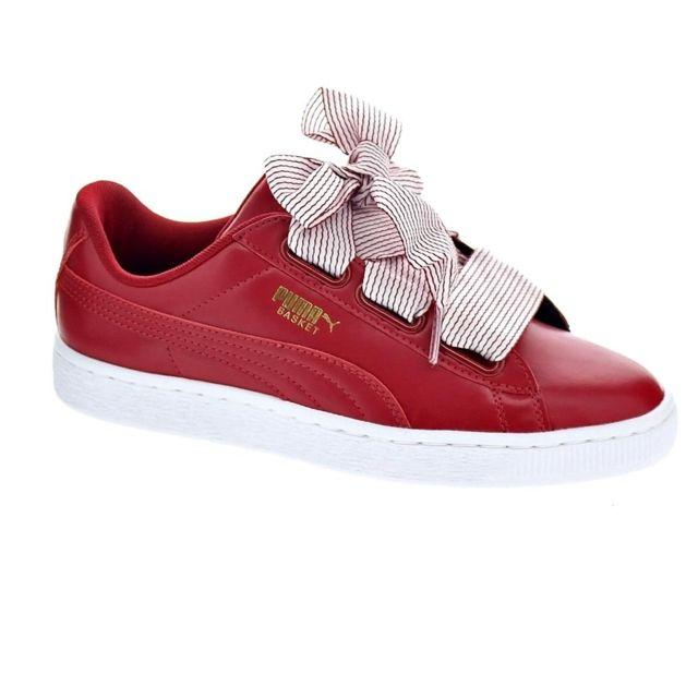 a3c354cf576f0 Puma - Chaussures Femme Baskets basses modele Basket Heart - pas cher Achat    Vente Baskets enfant - RueDuCommerce