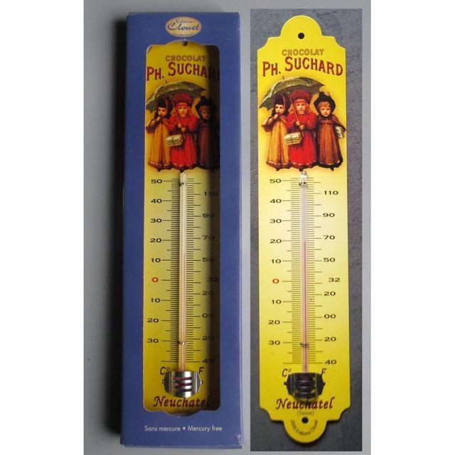 Universel Thermometre chocolat suchard 3 enfants deco cuisine tole bar