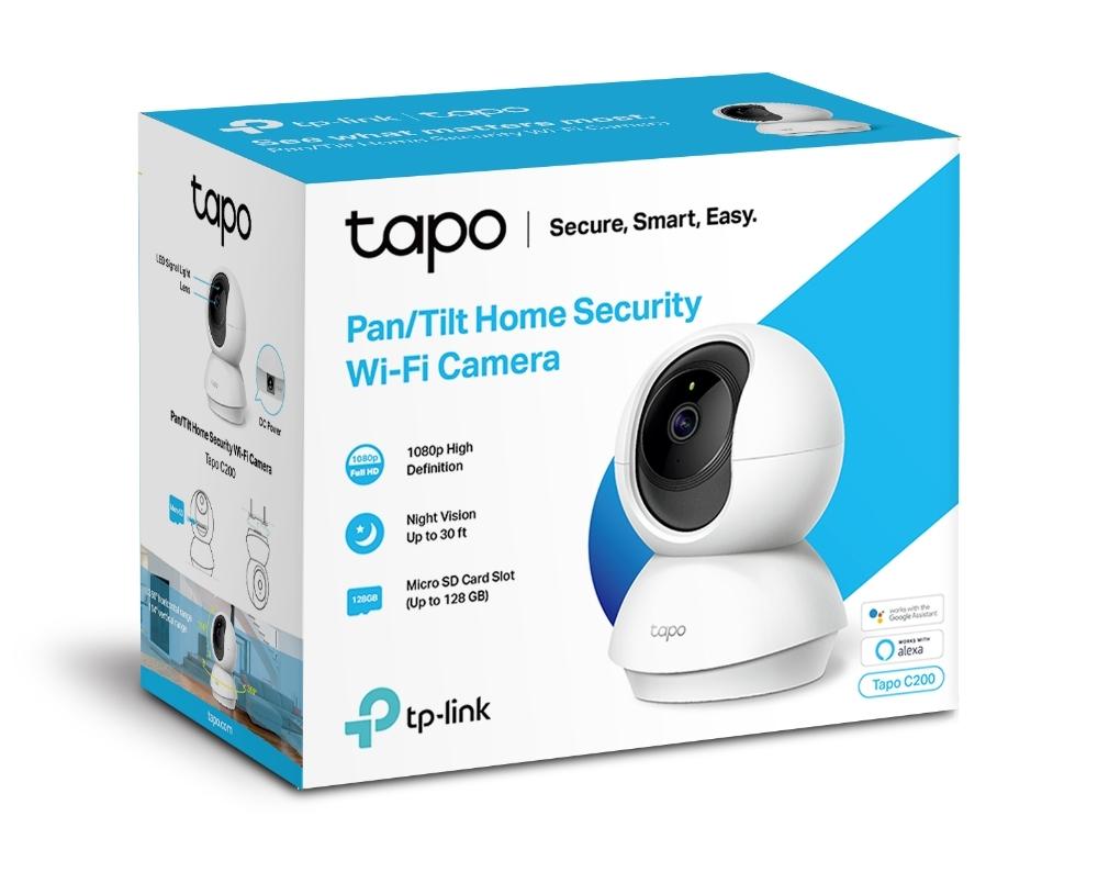 Caméra de surveillance WiFi panoramique et inclinable Tapo C200