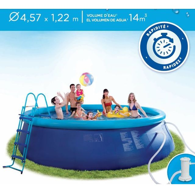 41da3fa4c2db4 CARREFOUR - Kit piscine autoportante RIO - Dia 457 x H 122 cm - pas ...