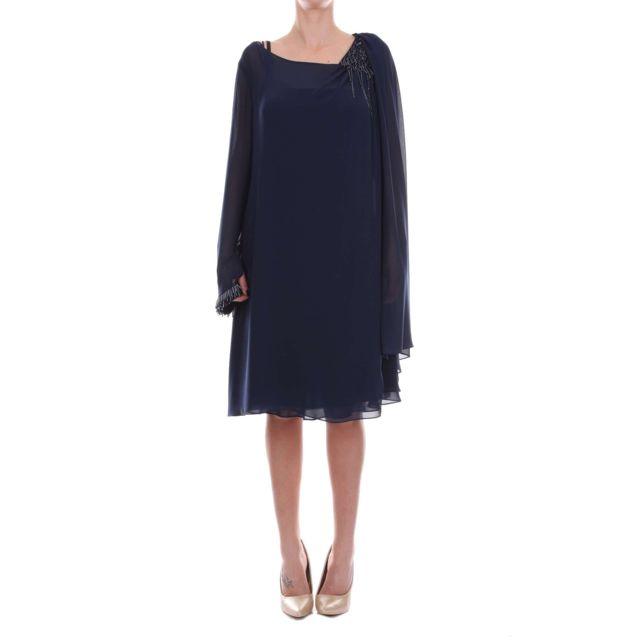 Carlo Pignatelli Femme 36UU3000BLUE Bleu Polyester Robe