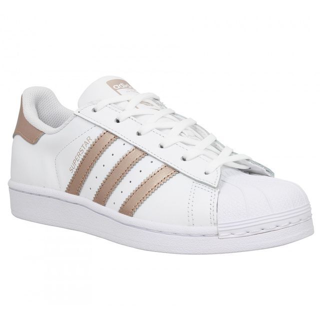 Adidas - Superstar-40 2/3-Blanc Gold rose - pas cher Achat ...