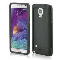 Mols - Coque antichoc noire avec protecteur d'écran pour Samsung Galaxy Note 4