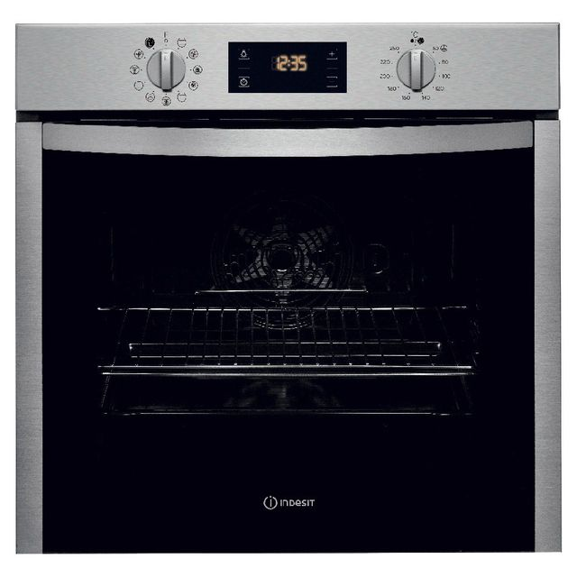 Indesit four intégrable multifonction 71l 56cm a+ catalyse inox - ifw5844cix