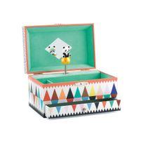Little Big Room - Boite à musique animée bois mélodie du panda triangle 17.8x11.7x10.3cm Achille&ULYSSE