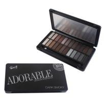c50098bf18fbb3 Gloss - Coffret cadeau coffret maquillage palette de maquillage yeux Smoky  Noir - 25pcs