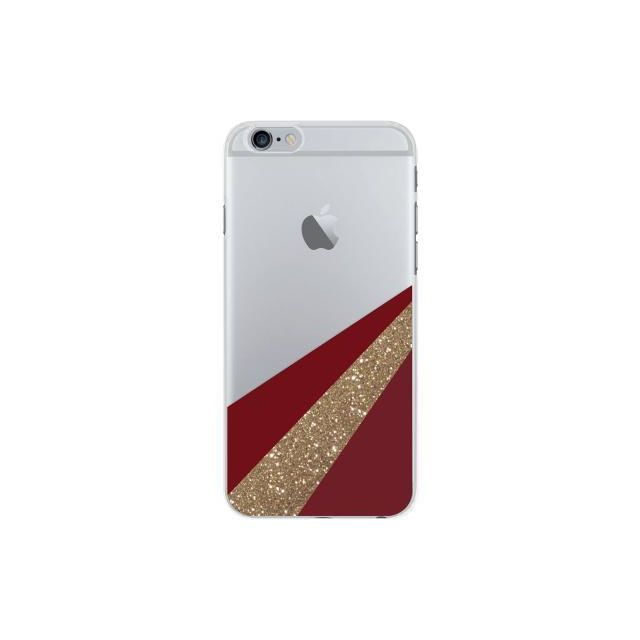 39b179efd11cf Bigben - Coque semi-rigide transparente On the line rouge pour iPhone 6 6S