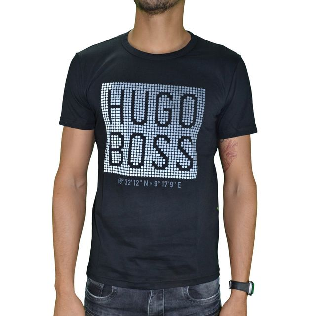 hugo boss en solde t shirt manches courtes homme tee. Black Bedroom Furniture Sets. Home Design Ideas