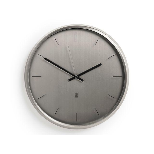 Umbra - Horloge en métal et verre D.31.75cm Meta - Gris 0cm x 0cm x 0cm