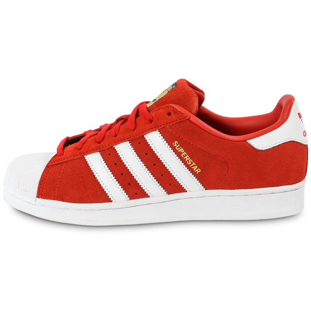 Adidas originals Superstar Suede Rouge Et Blanche pas