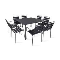Soldes Table jardin carre 8 personnes - 2e démarque Table jardin ...
