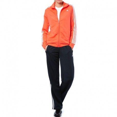 9fb0143de5c2e Adidas originals - Survêtement Ess 3S Knit Entrainement Orange Femme Adidas