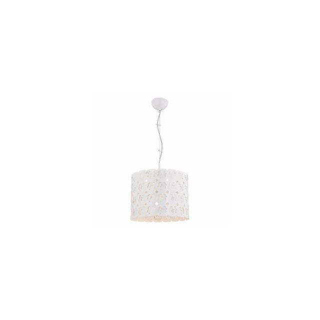 Homemania Lampe à Suspension Pandion - Plafonnier - Murale - Blanc en Métal, 32 x 32 x 120 cm, 1 x E27, Max 40 W