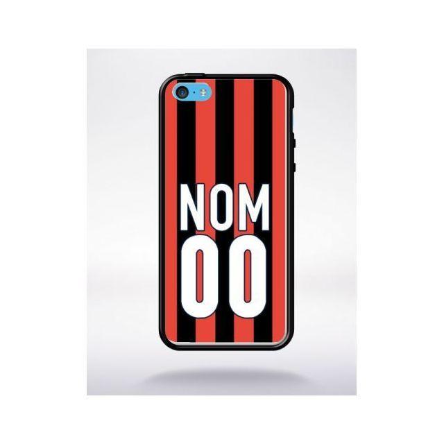 mp 313404 2709 118 apple iphone 5c silicone bord noir personnalise ta coque avec ton nom ton numero equipe nice