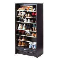 Simmob - Meuble à Chaussures Noir Rideau Imprimé - Coloris - Bottes 201
