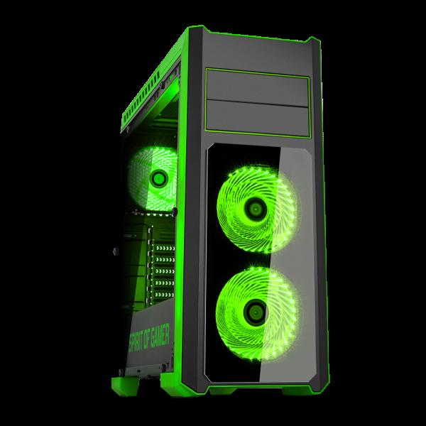 boitier pc rogue iii green spirit of gamer boitier atx. Black Bedroom Furniture Sets. Home Design Ideas
