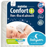 Babysom - Matelas bébé Confort + 60 x 120x14 60 x 120x14 - Déhoussable
