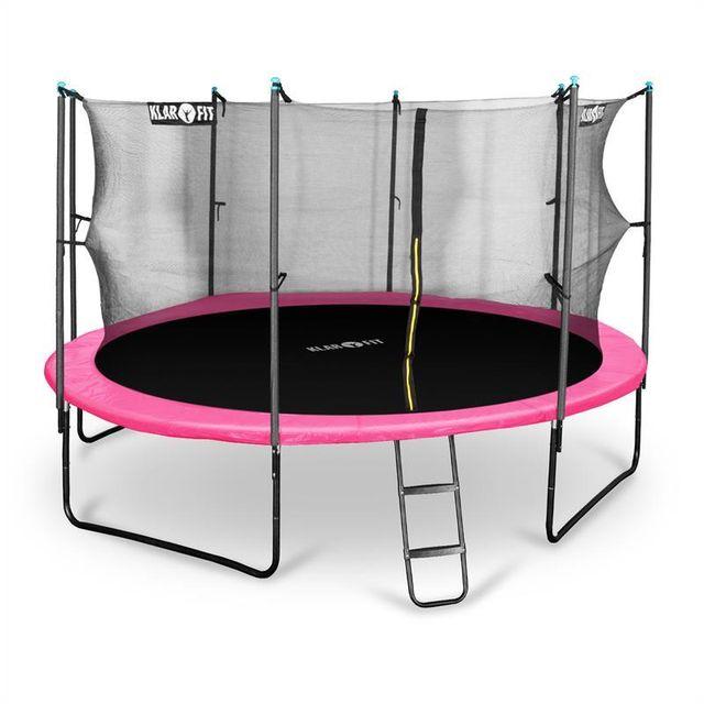 klarfit rocketgirl 430 trampoline 430cm filet de s curit chelle rose pas cher achat. Black Bedroom Furniture Sets. Home Design Ideas