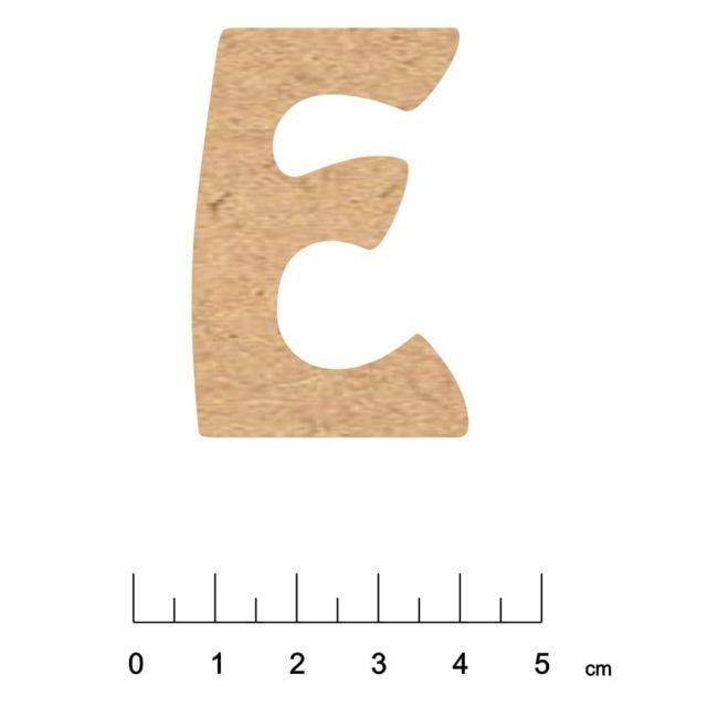 Terre & Bois CrÉATIONS - Alphabet en bois Mdf adhésif 5 cm Lettre E - Terre et Bois Créations