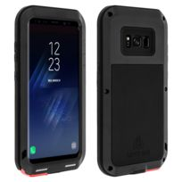 Avizar - Coque Antichocs Samsung Galaxy S8 Plus - Noir - Protection intégrale Love Mei