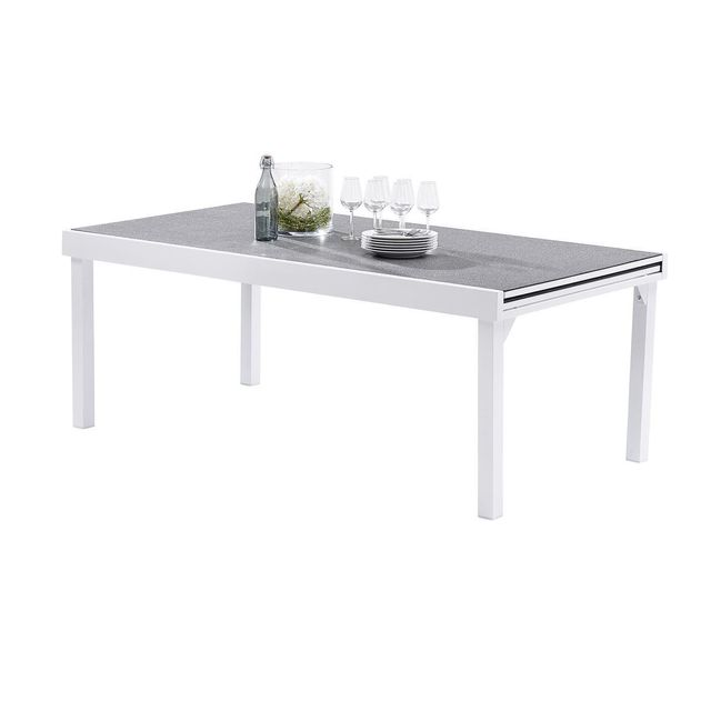 Wilsa Table Modulo Stone Blanc T8/12 Tables & Ensembles Modulo Stone
