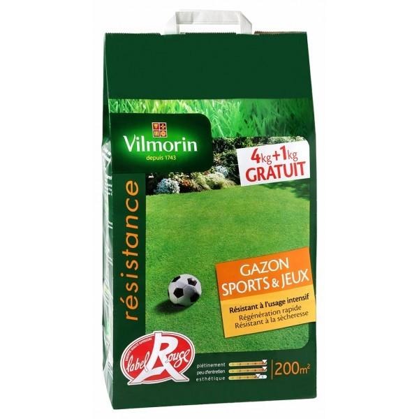 Gazon Sports et Jeux sac de 5 kgs 4kgs + 1 gratuit