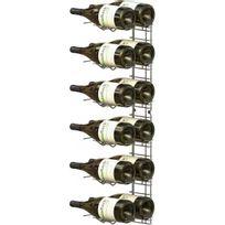 Visiorack - Support mural de 12 bouteilles de taille Magnum - Bouteilles horizontales - Chrome Aci-vis407