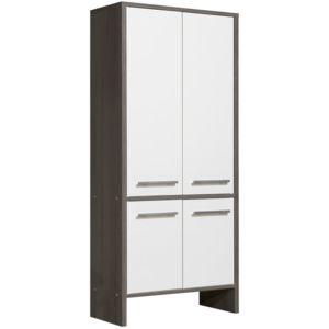 Marque generique colonne salle de bain en bois 4 portes for Colonne salle de bain 4 portes