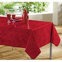 D Zign Pad - Toile Cirée Nappe rectangulaire Beton cire rouge 140 x 240 cm