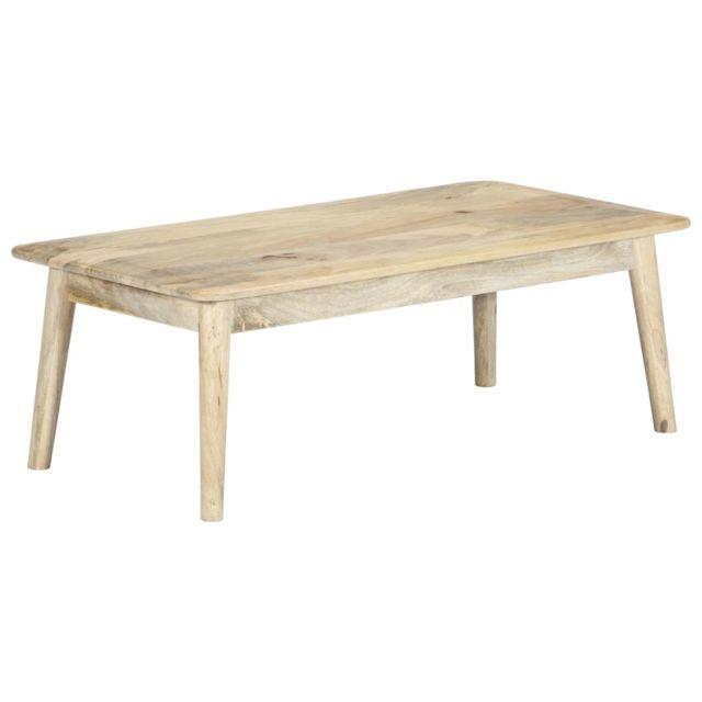 Vidaxl Bois de Manguier Massif Table Basse 115x60x40 cm Table d'Appoint Salon