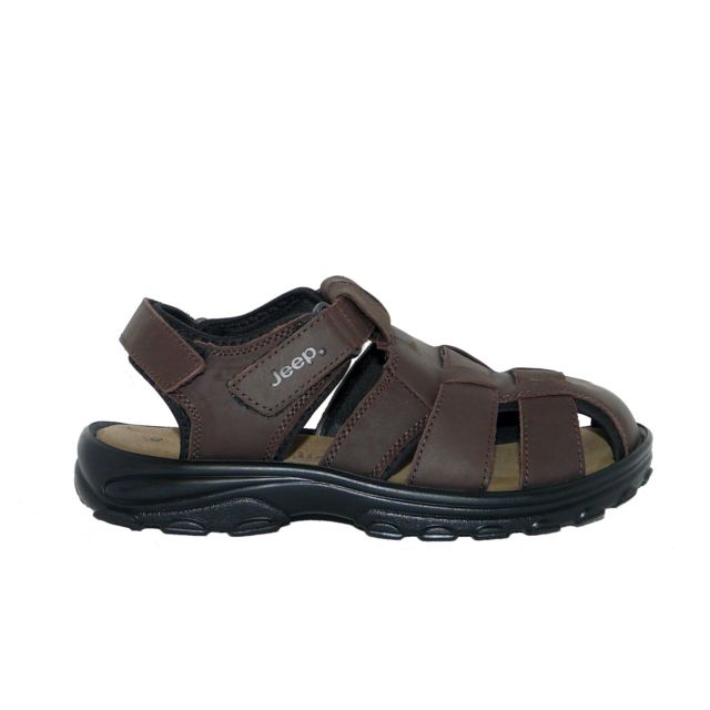 ae4bc9a7b705a Jeep - Sandales chaussures homme Cuir confort marron - pas cher Achat    Vente Sandales et tongs homme - RueDuCommerce