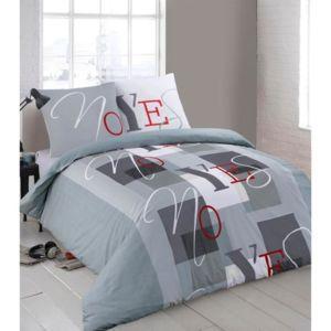 finlandek parure de couette ulla 100 coton 1 housse de couette 140x200 cm 1 taie 65x65 cm. Black Bedroom Furniture Sets. Home Design Ideas