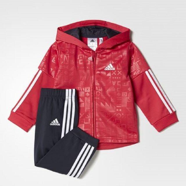 Adidas Ensemble Shiny Hooded pas cher Achat Vente