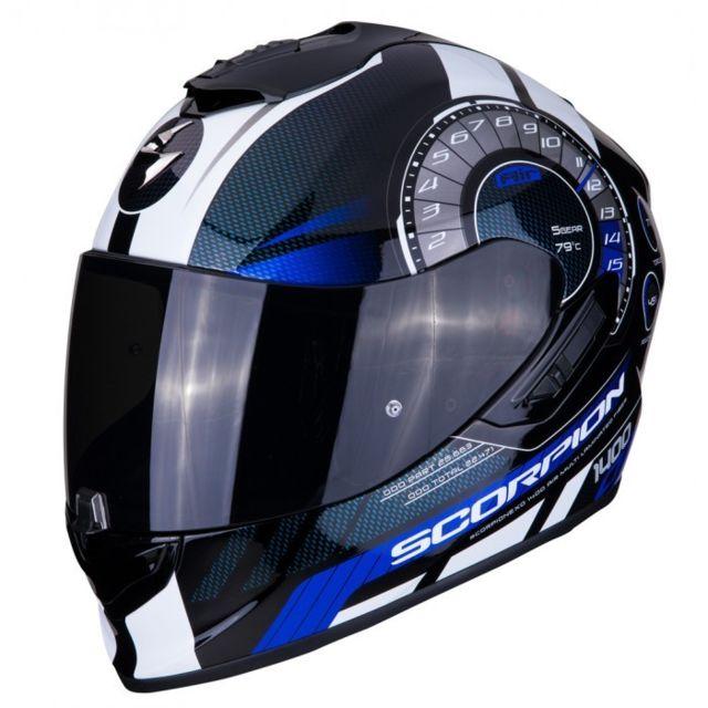 Scorpion Casque Integral Moto Fibre Exo 1400 Air Torque Noir Bleu