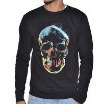 Kamora - Jeans - Sweat Shirt - Homme - Skully - Noir