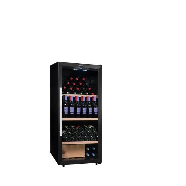 CLIMADIFF Cave à vin - 160 bouteilles - C - Froid compresseur - Noir