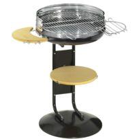 ALPERK - Barbecue à charbon rond original New Garden